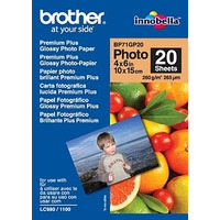 Brother BP-71GP Glossy Photo 10x15 20 sheets Fotopapier - Wit