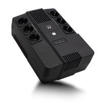 Ewent Line Interactive, 600 VA, 360 W, AVR, 6x Type F (CEE7/3) Onduleur - Noir