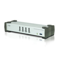 Aten Commutateur KVMP™ DisplayPort 4 ports USB 3.0 (câbles inclus) Commutateur KVM - Noir,Gris