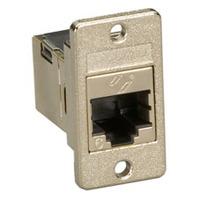 Black Box CAT6 RJ-45 Panel-Mount Couplers Adaptateur de câble - Argent