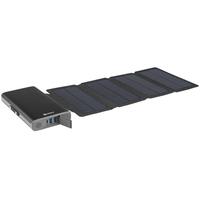Sandberg Solar 4-Panel 25000 Powerbank - Zwart
