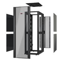 """APC NetShelter SX 42U 600mm(b) x 1070mm(d) 19"""" IT rack, behuizing zonder deuren & zijpanelen, zwart Stellingen/racks"""