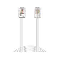 Sandberg Telephone RJ11-RJ11 5 m Telefoon kabel - Wit