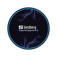 Sandberg Gaming Chair Floor Mat Plaquette de bureau - Noir, Bleu