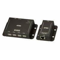 ATEN Système d'extension CAT 5 USB 2.0 à 4 Ports (jusqu'à 50 m) - Noir