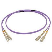 C2G 2 M CORDON DE RACCORDEMENT FIBRE OPTIQUE SC/SC OM4 LSZH - VIOLET Câble de fibre optique