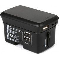 Real Power TravelCharge-4K RealPower Travel Charger + PowerBank 4000mAh Black