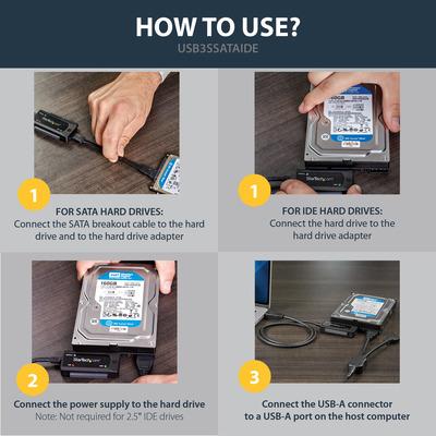 StarTech.com USB3SSATAIDE Interfacekaarten/-adapters