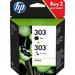 HP 303 originele zwarte/drie-kleurens, 2-pack Inktcartridge - Zwart,Cyaan,Magenta,Geel