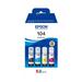 Epson 104 EcoTank 4-colour Multipack - Zwart,Cyaan,Magenta,Geel
